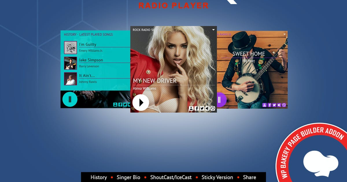 Download Zuper - Radio Player for WPBakery Page Builder by LambertGroup
