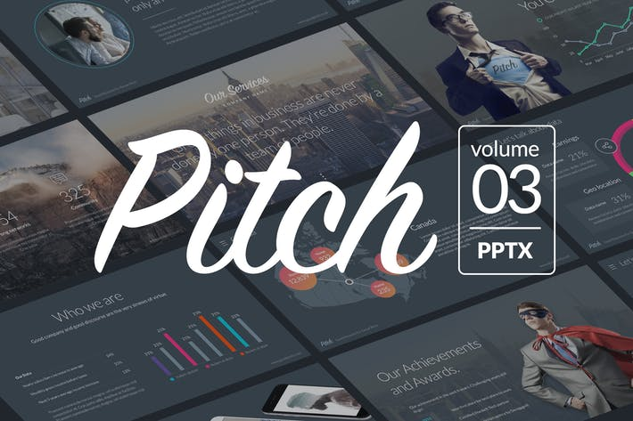 Thumbnail for Pitch Vol.3 - Professional Powerpoint Template