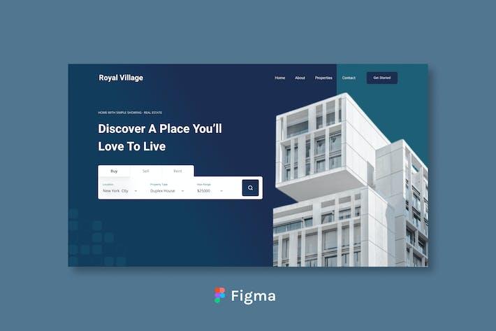 Royal Village - Real Estate Header Design Figma