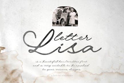 Letter Lisa - Handwritten Script