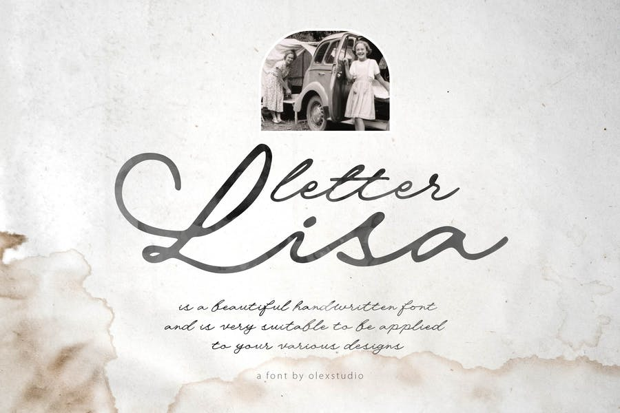 Carta Lisa - Guión manuscrito
