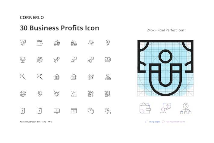 Thumbnail for CORNERLO - Business Profits Icon Set