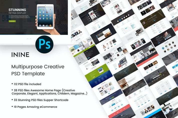 Thumbnail for iNine - Creative MultiPurpose PSD Template