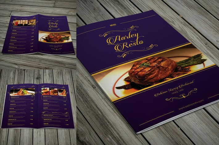 Thumbnail for Elegant Restaurant Menu Bifold