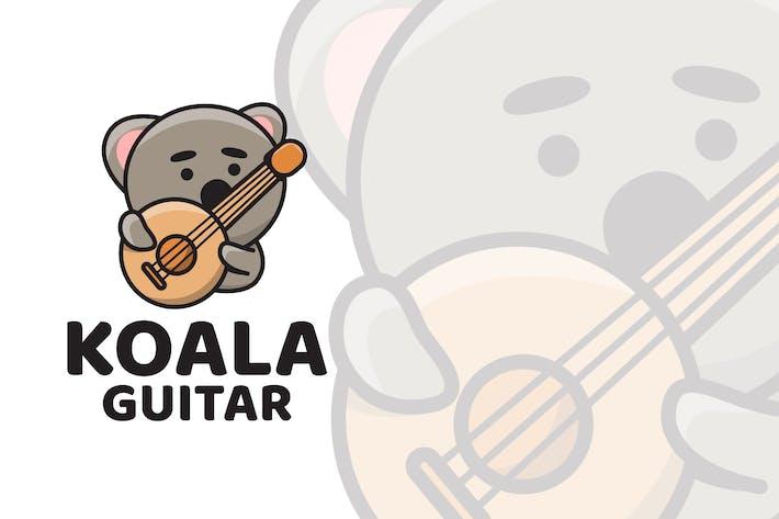 Thumbnail for Koala Guitar Cute Logo Template