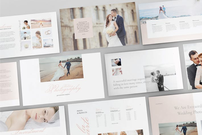 Cover Image For WEDDING PHOTOGRAPHY -  Powerpoint Template  V99