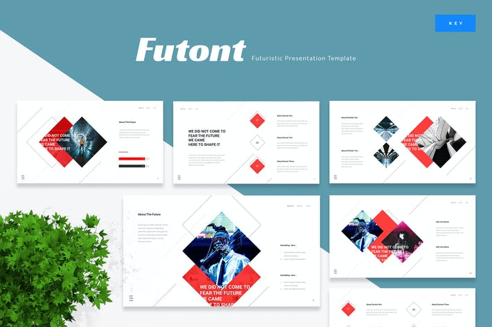 Thumbnail for Futont - Futuristic Keynote Template