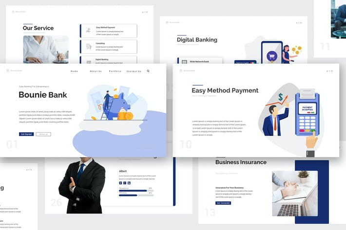 Thumbnail for Bounie Company Profile Keynote Template