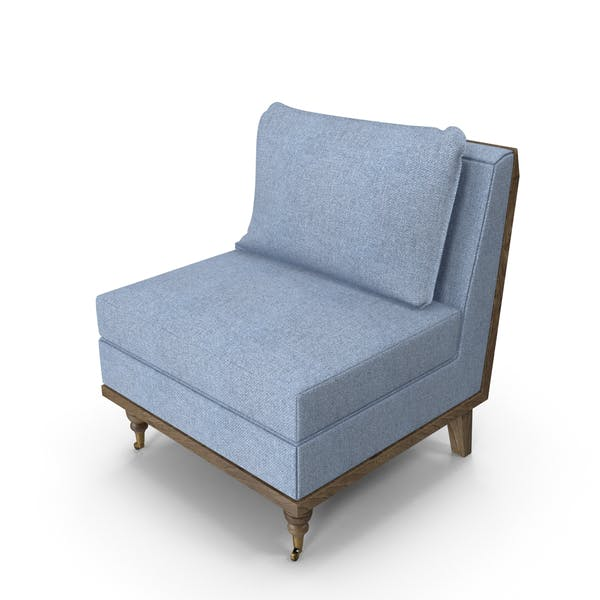 Strip Blue Armchair