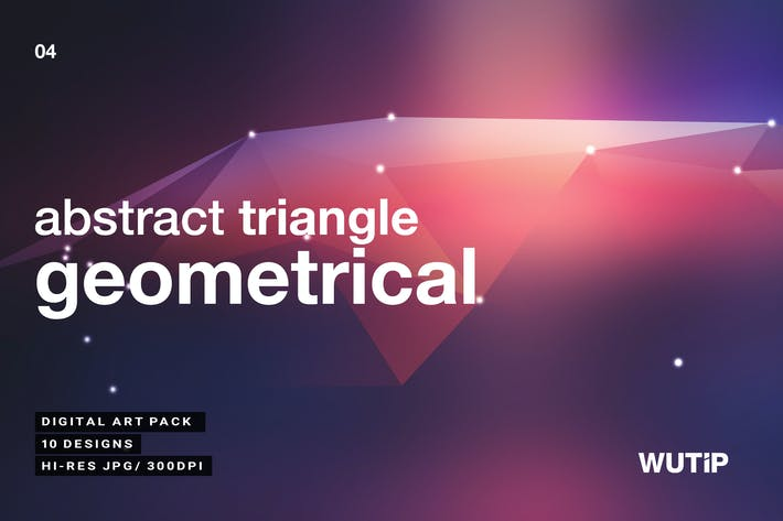 Cover Image For Abstract Triangle Geometrical Background V4