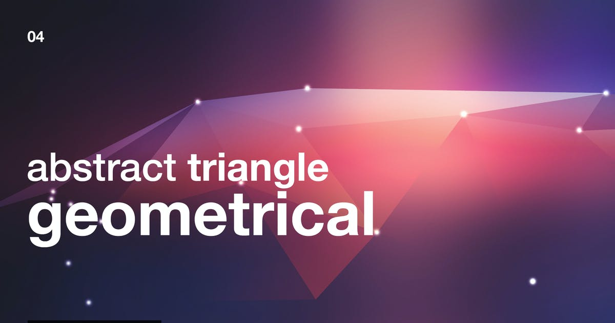 Abstract Triangle Geometrical Background V4 by Wutip