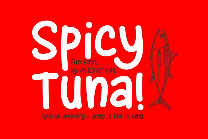 Thumbnail for Spicy Tuna - Fun Children Font
