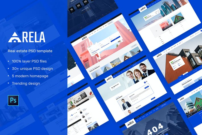 Thumbnail for Arela | Real Estate PSD Template
