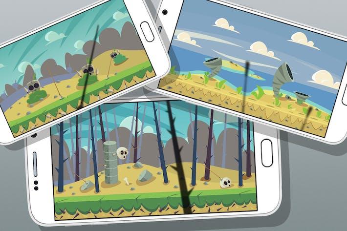 Thumbnail for 5 Arrière-plans de jeu du désert
