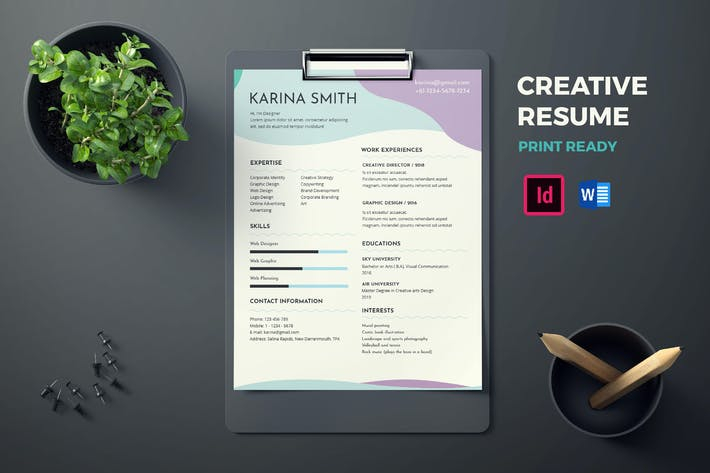 Thumbnail for CV Resume template, Creative, Clean & Modern