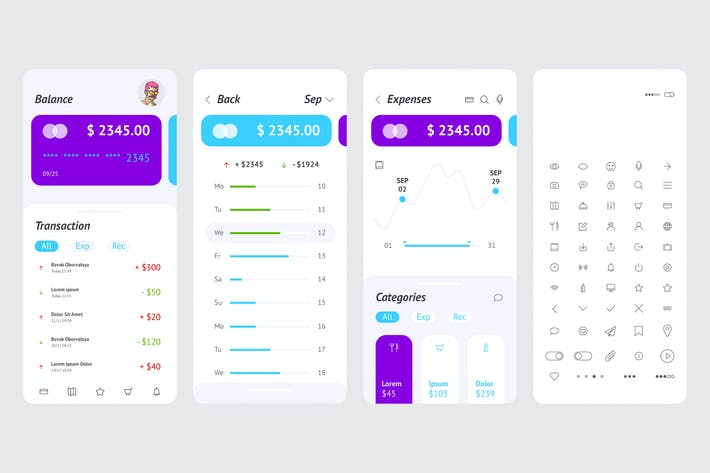 Thumbnail for UI vector Bank payment system