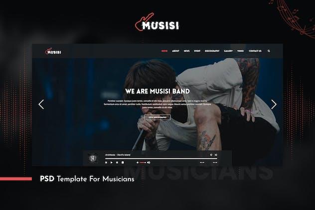Musicians PSD Template - Musisi