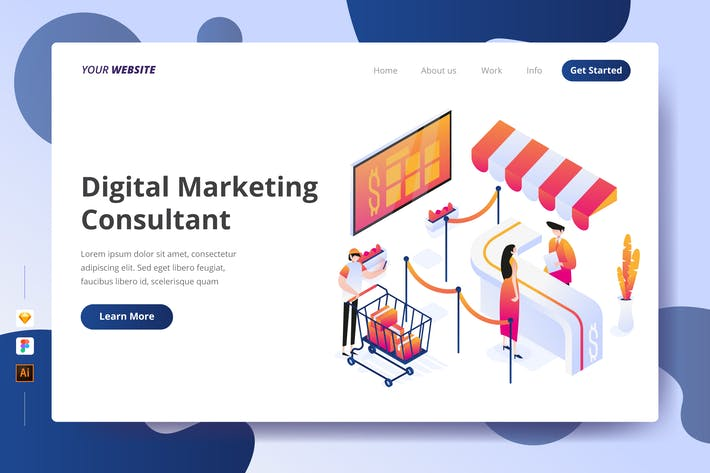Thumbnail for Digital Marketing Consultant - Landing Page
