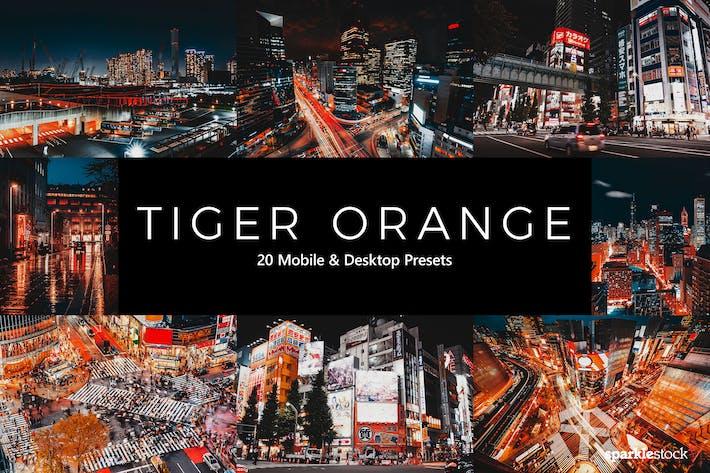 Thumbnail for 20 Tiger Orange Lightroom Presets & LUTs