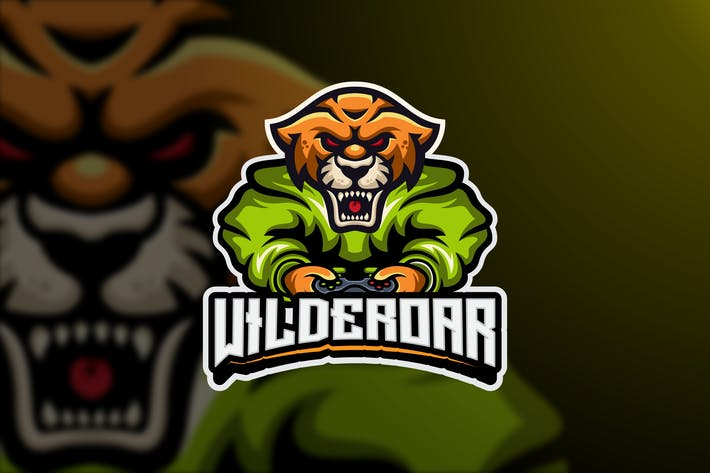 Thumbnail for Tiger Game Logo Template