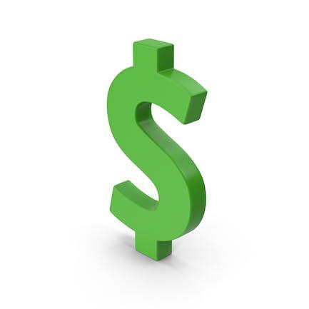 Symbol Green Dollar
