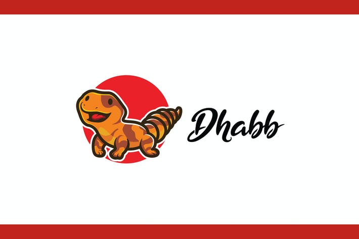 Thumbnail for Cartoon Happy Dhabb Mascot Logo
