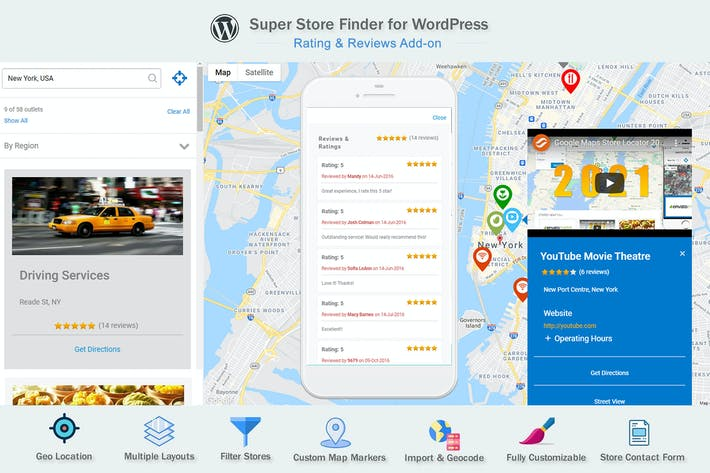 Google Maps Rating & Reviews Add-on for WordPRess