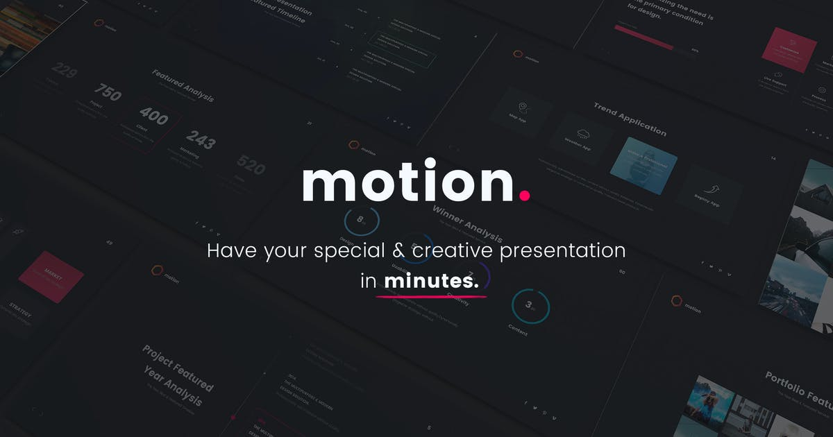 Download MOTION - Creative Google Slide Template by Unknow