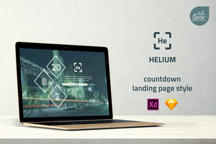 Thumbnail for Helium - Countdown Landing Page UI Template
