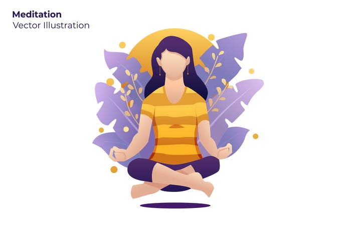 Thumbnail for Meditation - Vector Illustration