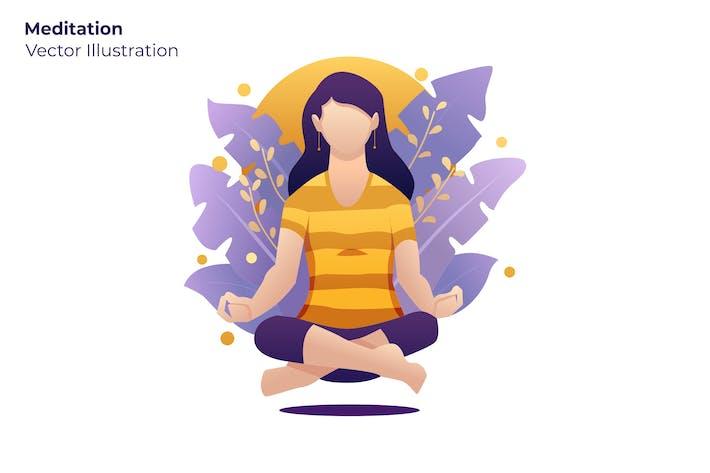 Meditation - Vektor illustration