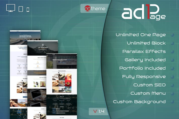 Thumbnail for Parallax One Page Builder Wordpress Plugin