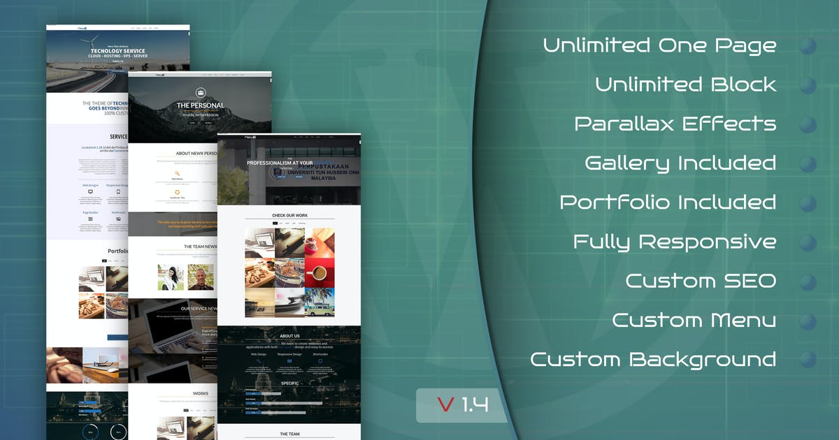 Download Parallax One Page Builder Wordpress Plugin by ad-theme