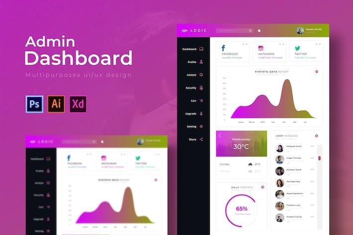 Thumbnail for Logic Dashboard | Admin Template