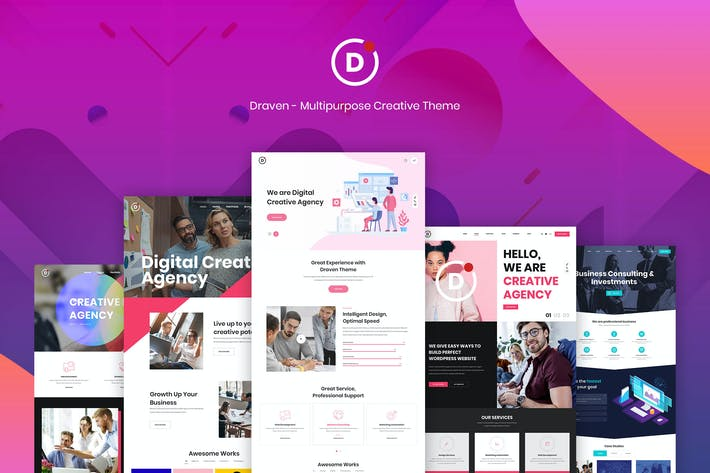 Thumbnail for Draven – Multipurpose Creative Theme