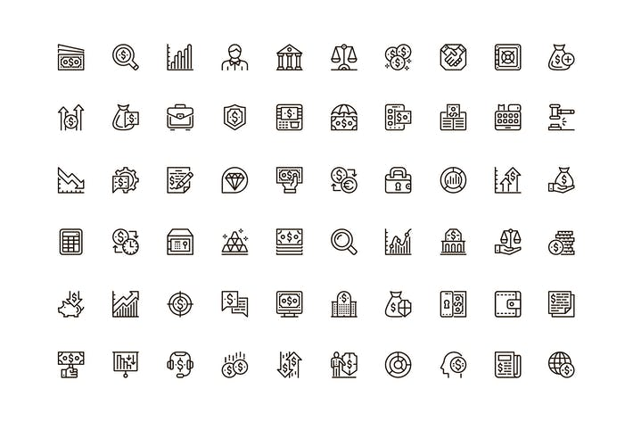 Thumbnail for Finance Unique Web Line Icons Pack