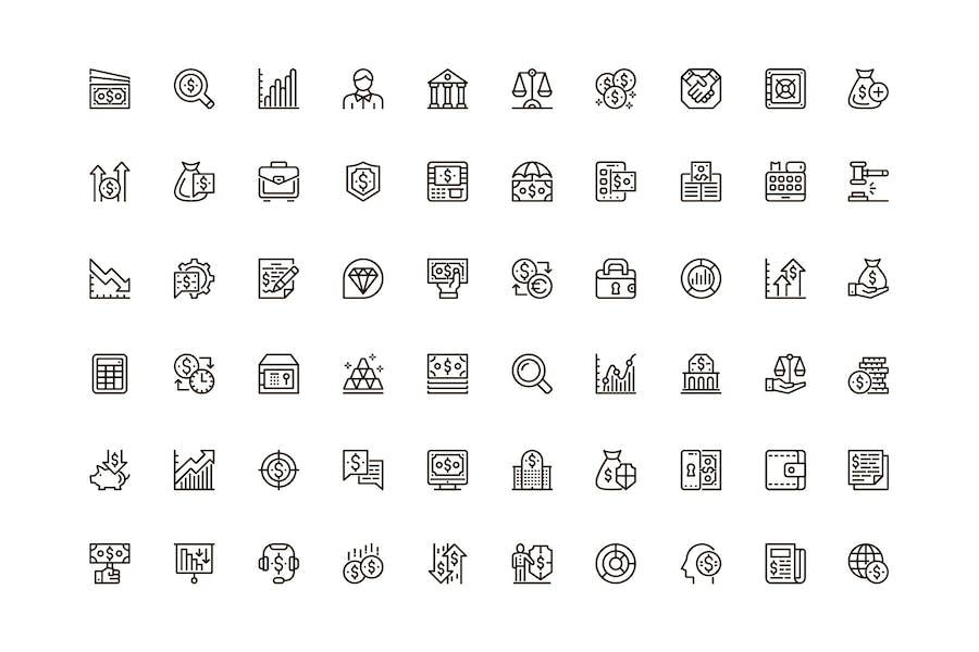 Finance Unique Web Line Icons Pack