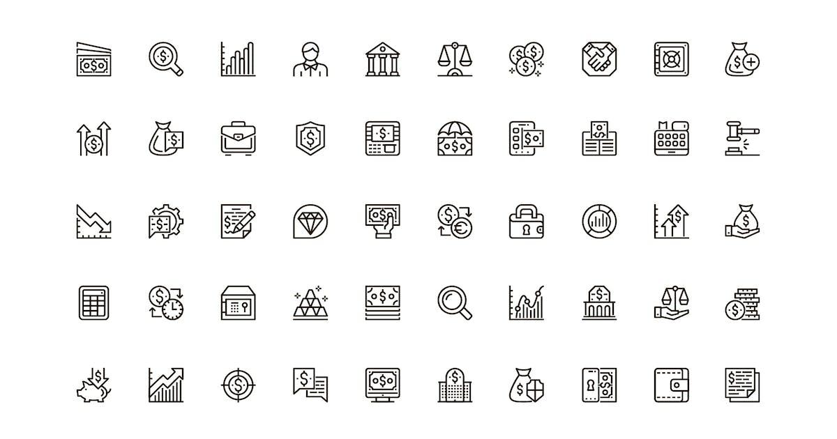 Download Finance Unique Web Line Icons Pack by alexdndz