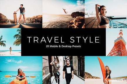 20 Travel Style Lightroom Presets & LUTs