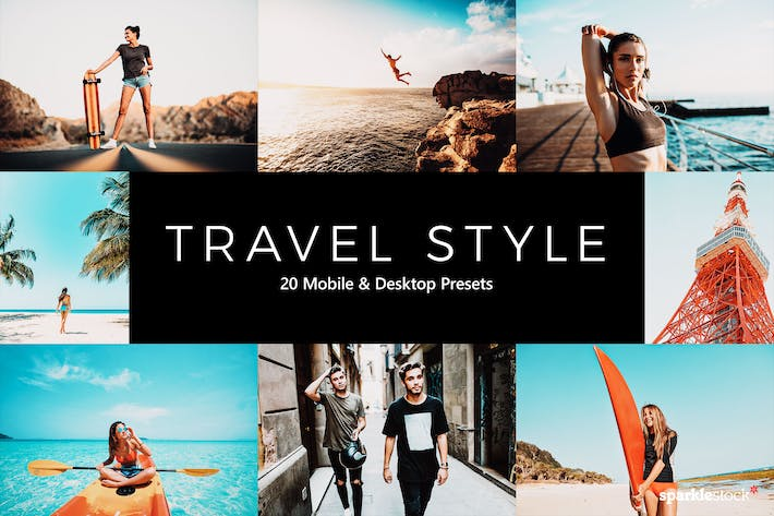 Thumbnail for 20 Travel Style Lightroom Presets & LUTs