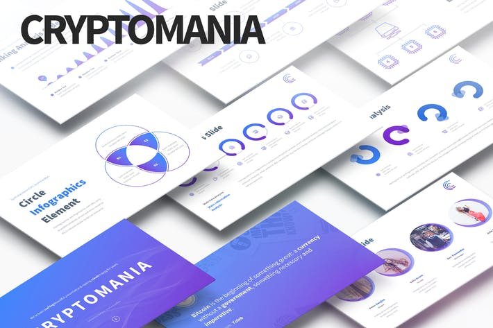 Thumbnail for Cryptomania - Multipurpose PowerPoint Presentation