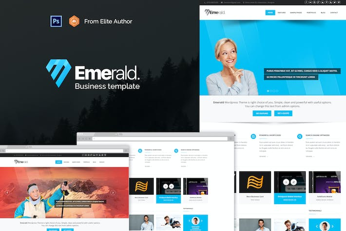 Thumbnail for Emerald - Modern & Elegant Template for Corporate