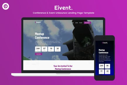 Eivent — Conference & Event Unbounce Landing Page