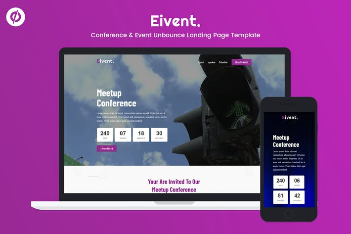 Thumbnail for Eivent — Conference & Event Unbounce Landing Page
