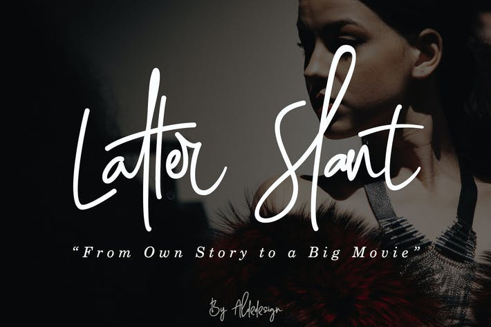 Thumbnail for Latter Slant | Signature Font