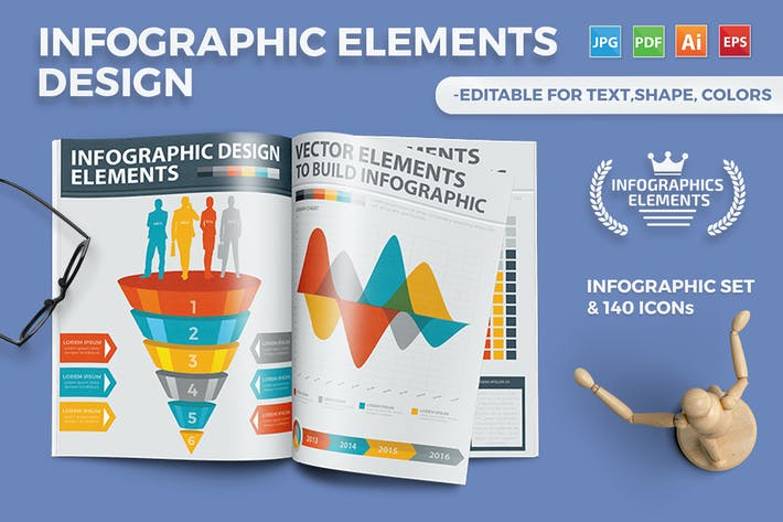 Thumbnail for Infographics Template Design 3