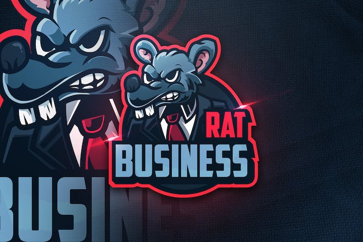 Thumbnail for Rat Business -  Mascot & Esport Logo