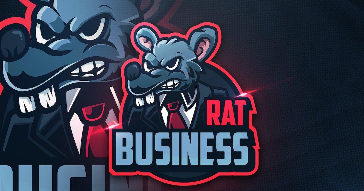 Rat Business -  Mascot & Esport Logo by aqrstudio