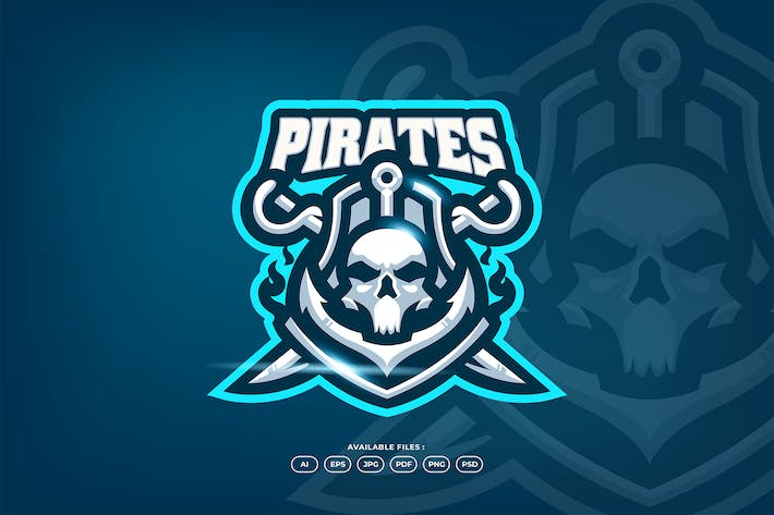 Thumbnail for Skull Pirates Anchor Sword Dead Captain Character