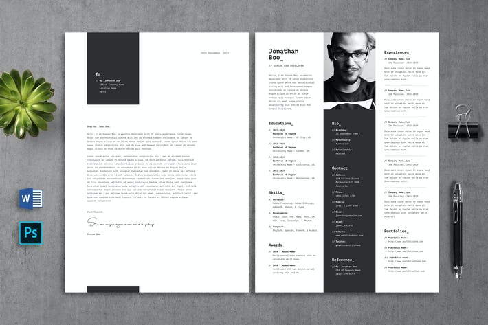 Thumbnail for Programmer Resume CV Template 09
